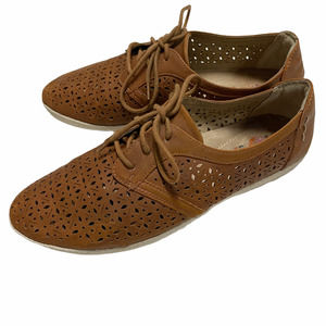 Earth Spirit Gelron Oxford Lace Up perforated 10